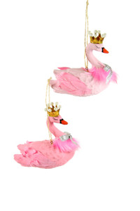 Heraldly Swan Pink Ornament