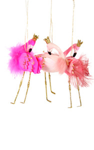 Heraldly Flamingo Ornament