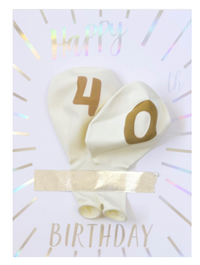 40th Birthday Balloon Card