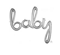 Baby Foil Balloon- Silver