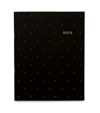 Black Swiss Dot 2019 Monthly Planner