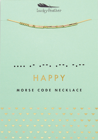 Happy Morse Code Necklace