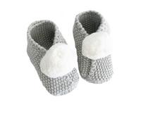 Baby Pom Pom Slippers- Grey