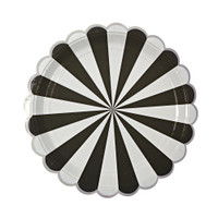 Black Striped Plate- Large