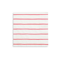 Frenchie Striped Napkins- Candy Apple