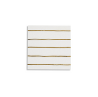 Frenchie Metallic Striped Petite Napkins- Gold Foil