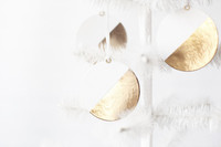 Gold Dipped Paper Flat Ornaments
