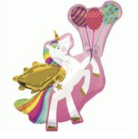 Winged Unicorn Foil Balloon