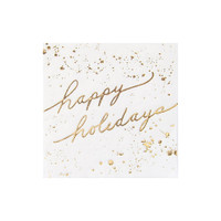 Blanc Holiday Happy Holiday Cocktail Napkins