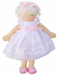 Ava Doll - White Broderie Dress 35cm