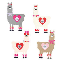 Lovable Llamas Valentine Card Kit