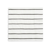 Frenchie Striped Large Napkins- Ink
