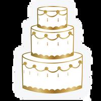 Wedding Cake Die Cut Napkins
