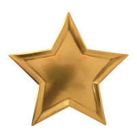 Star Gold Foil Plate