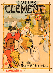 Cycles Clement Vintage Poster