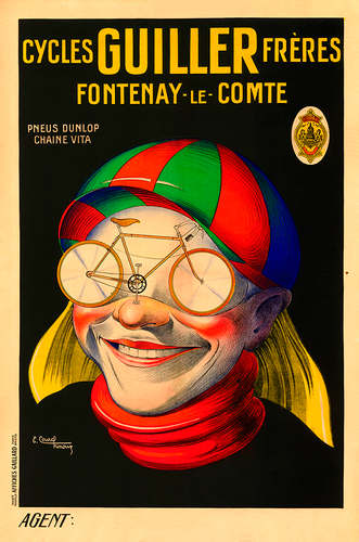 Cycles Guiller Freres Poster by E Courchinoux