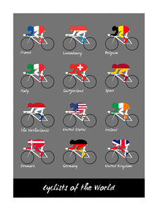 Cyclists of the World Poster