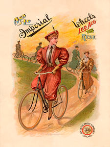Imperial Wheels Vintage Bicycle Poster