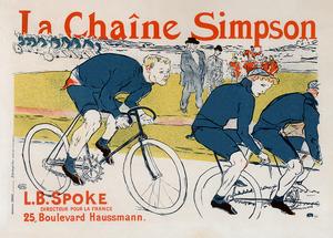 La Chaine Simpson Vintage Bicycle Poster by Henri De Toulouse-Lautrec