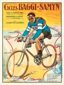 1923 Baggy-Samyn Tour De France Fine Art Bicycle Poster