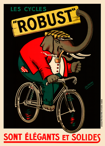 Cycles Robust Bicycle Poster with elephant