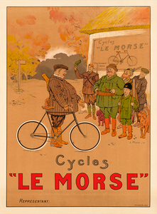 Cycles Le Morse Bicycle Poster
