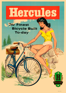Hercules Bicycle Poster from the 1950's
