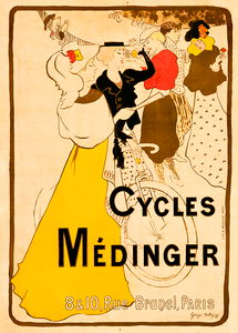 Cycles Medinger Bicycle Poster by Georges A Bottini