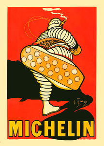 Michelin Bibendum French Poster by O'Gallop