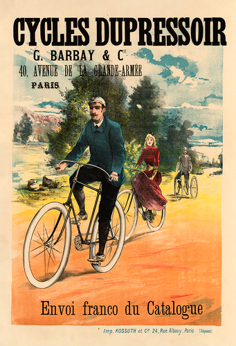 Cycles Dupressor 1894 Bicycle Poster Print