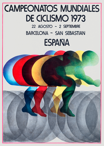 1973 World Cycling Championships Poster Print