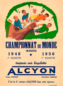 Alcyon Championnat du Monde Bicycle Poster