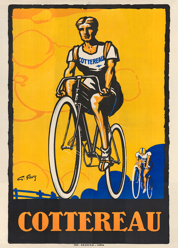 Cottereau Racing Vintage Bicycle Poster Print  by Favre from 1926