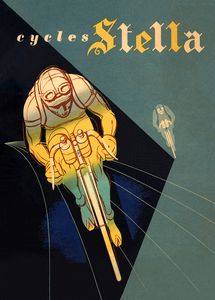 Cycles Stella Poster 1953 Bicycle Poster by Paul Ordner
