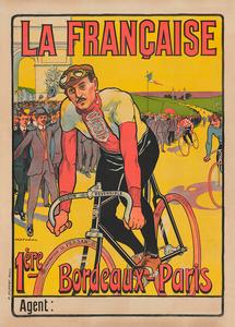La Francaise Bordeaux-Paris Vintage Bicycle Race Poster
