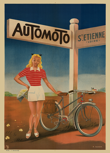 Automoto Vintage Bicycle Poster Print