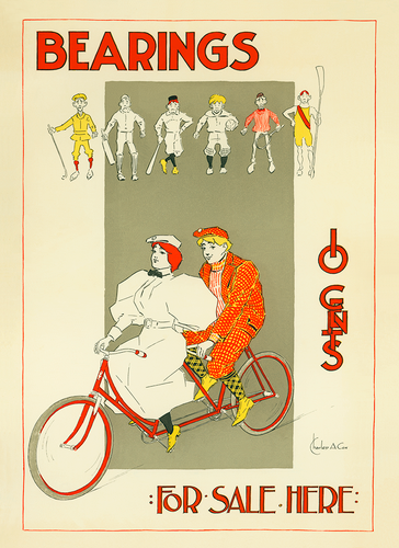 Bearings - Tandem poster by Charles A Cox