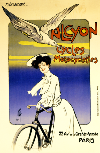 Alcyon Cycles Motocyclettes Poster