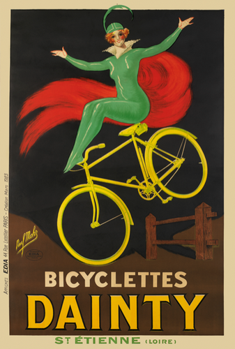 Bicyclette Dainty Poster