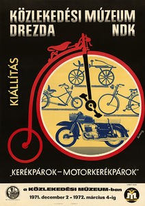 Cycles-Motos Exhibition Poster
