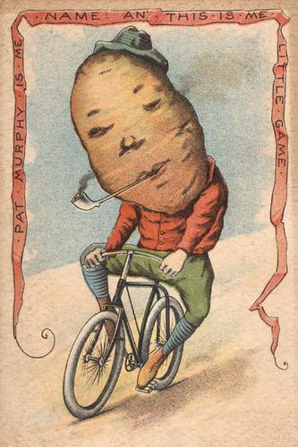 Potato Vegetable Rider Poster