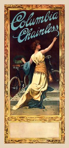 Columbia Vintage American Bicycle Poster