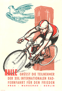 Peace Race 1960 Bicycle Poster