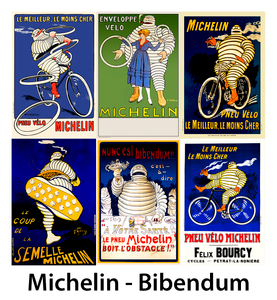 Bibendum, The Michelin Man Posters - Set of 6
