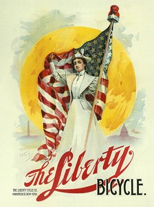 Liberty Bicycle Poster