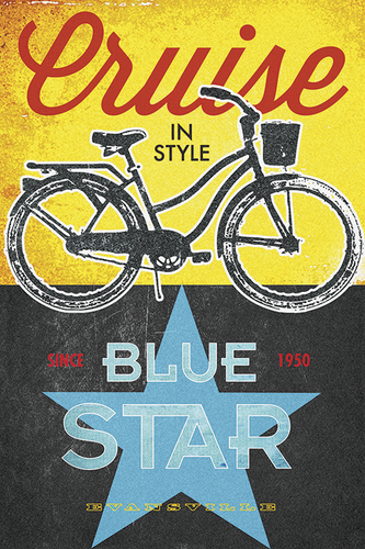 Blue Star Bicycles by John Evans