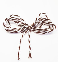 Baker's Twine - Dark Brown and White