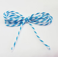 Baker's Twine - Aqua and White