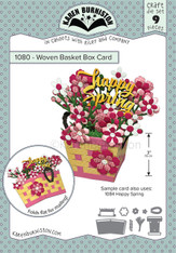 Woven Basket Box Card Pop-up
