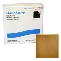 """Stomahesive Skin Barrier without Starter Hole, 4"""" x 4""""  5121712-Box"""